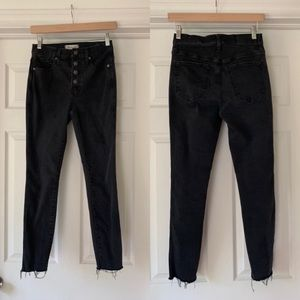 """Madewell 10"""" High-Rise Washed Black Jeans"""